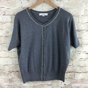 Ann Taylor LOFT Gray Cardigan Sweater Medium